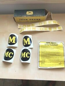 NEW Genuine Vintage John Deere Crawler Tractor M/MC Decals  AM3737-T