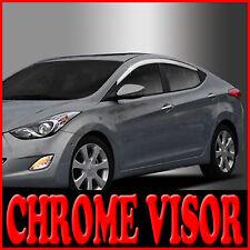 Chrome Window Visors Vent 4p For 2011 2012 2013 Hyundai Elantra MD : Avante