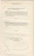 1868 London Metropolis Gas Company Report of Charges & Expenses - Parliament