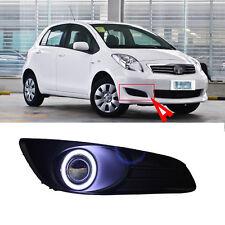 Superb COB Fog Lights Source Angel Eye Bumper Cover for Toyota Yaris 2010-2012