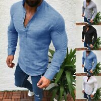 Fashion Men's Long Sleeve Slim Fit Muscle Tees T-shirt Casual Shirts Tops Blouse