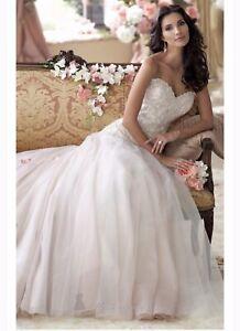 Mon Cheri Wedding Dress Size 12 Tea Rose/Ivory Brand New Never Worn.