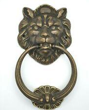 DOOR KNOCKER LION'S HEAD EXTRA LARGE SOLID BRASS HEAVY DUTY 210mm