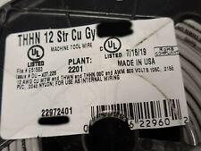 Southwire #12awg 19-Stranded THHN/THWN/MTW Building Wire Gray /100ft