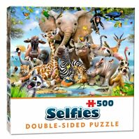 Cheatwell Games Double Sided Selfie Pets  Animals Jigsaw Puzzle Wild -500 Pieces