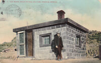 PreLinen Postcard B297 Can House Built of Coal Oil Cans Tonopah NV Double cancel