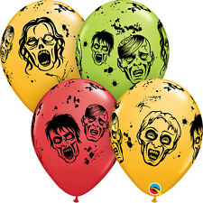 "HALLOWEEN PARTY SUPPLIES BALLOONS 10 x 11"" QUALATEX HORROR ZOMBIES BALLOONS"