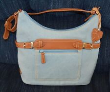 CHARTER CLUB blue cloth purse hand bag--gently used--great condition