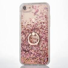 Sparkly Diamond Stars Ring Dynamic Liquid Bling Glitter Case For iPhone X 8 6s 7