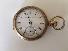 Used Manual Winding Pocket Watch ELGIN NATL WATCH Cº Reloj de Bolsillo  IT WORKS