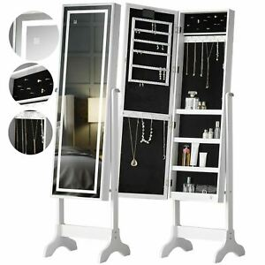 Mirror jewellery Standing Full-Length Cabinet Touch lights led