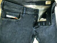 *HOT AUTHENTIC Men's DIESEL @ ZATINY 88Z - BOOTCUT DARK Blue Denim Jeans 34 x 32