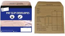 50 100 250 1000 WAGE PACKET ENVELOPES CASH PACKET SLIP PAY MONEY BROWN MANILLA-