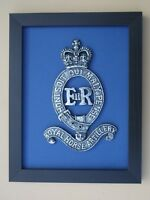 Large Scale Framed ROYAL HORSE ARTILLERY BADGE Plaque RHA Queen's Crown