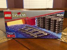 LEGO 4520 CURVED RAILS 9V TRAIN TRACKS OLD DARK GRAY NEW SEALED VERY RARE!