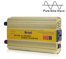 600W Power Inverter Pure Sine Wave DC 12V to AC 220V Car Inverter PSW Meind