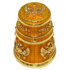 Rare Dé à Coudre Collection Fabergé style - Dé Impérial Or - Aigle à deux têtes