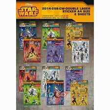 Star Wars Stickers The Clone Wars (4 Sheets = 2 packs / Various) Disney Stickers