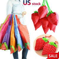 100pcs Reusable Eco Strawberry Storage Bag Handbag Foldable Shopping Bag Tote