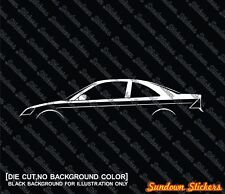2X Car silhouette stickers - for Honda Civic Coupe, EM 7th generation