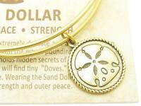 Wind and Fire Sand Dollar Gold Charm Wire Bangle Stackable Bangle Bracelet Gift