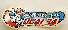 Autocollant SNOWBOARD TEAM QUAI 34 - Sticker vintage