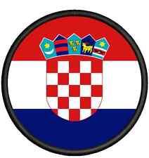 Kroatien Flagge -Durchmesser 8 cm Patch Aufnäher, Pin ,Aufbügler.