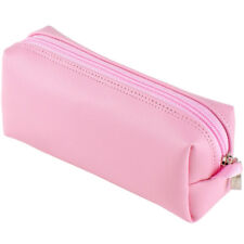 Burnoaa Makeup Cosmetic Bag Zip Organizer Pouch Pencil Storage Case Purse Pink