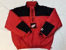 Vintage Starter Detroit Red Wings Jacket Pullover size Large Nhl Hockey
