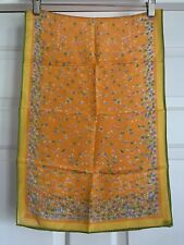 Vera Neumann Silk Scarf Floral Print Made In Japan