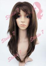 W144 Brown Long Wavy Layered Wig - studio7-uk