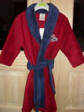 Boys Red Dressing Gown with Racing Car Motif 6-12 months