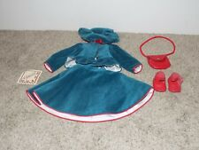 Hildegard Gunzel Collection Doll Outfit Red and Green Velvet Blouse Skirt Shoes