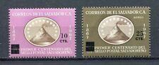 27322) EL SALVADOR 1973 MNH** Nuovi** Ovptd 2v Cent. Postal Service