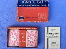 + Vintage 1934 - Kan-U-Go - Last Word in Crosswords - 2 to 7 Players - Boxed +