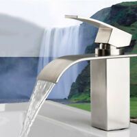Waterfall Basin Mixer Tap Bathroom Sink Taps Chrome Luxury Mono Cloakroom Faucet