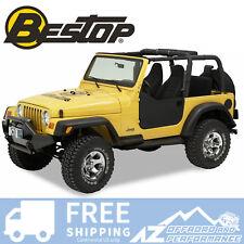 Bestop Soft Half Doors 97-06 Jeep Wrangler TJ & Unlimited Black Denim 53039-15
