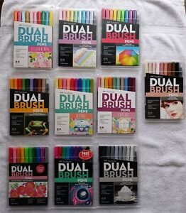 TomBow Dual Brush Pens Art Markers 10/10pc sets *new* never been used