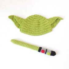 Yoda Baby Hat From Star Wars With Light Saber Halloween Costume Cosplay Outfit