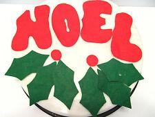 Vintage Christmas Decoration FELT NOEL With Magnets - Mini SANTA STOCKING