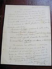 JULES TRUFFIER Autographe Signé 1886 COMEDIE-FRANCAISE THEATRE à ECRIVAIN WILLY