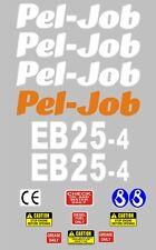 Decal Sticker Set Pour Pel-Job EB25-4 Mini Digger Bagger Pelle