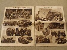 The New York Times Rotogravure Picture Section In Two Parts Sunday June 16, 1918