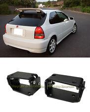 For 96-00 Civic EK9 3DR Type R Spoiler CTR Wing Riser BLACK Alex Tilt Brackets
