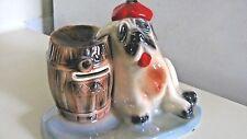 "Vintage St. Bernard Dog Bank & Holder - 6 1/2"" Tall - Adorable & Rare"