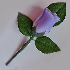 LIGHT PURPLE Rose Bud Wedding Bridal Button Hole Corsage Complete With Lapel Pin