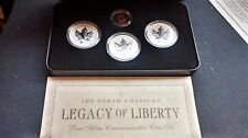 2004 2005 Canada 4 Coin Silver Proof Legacy of Liberty Coin Set - 3 Oz .9999