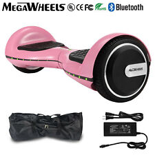 """Megawheels 6.5"""" Bluetooth Hoverboard Pink Electric Self Balancing Scooter UL+LED"""
