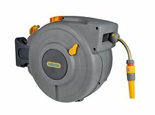 Hozelock 2490 Auto Reel  with 20m Hose - Wall Mounted Auto Retractable Hose Reel