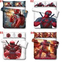 Deadpool Single/Double/Queen/King Bed Duvet Doona Quilt Cover Set Pillowcase